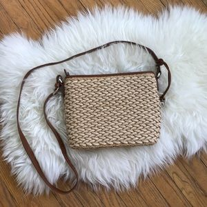 Brighton Bags - Brighton Basket Woven Crossbody Tan Brown Purse